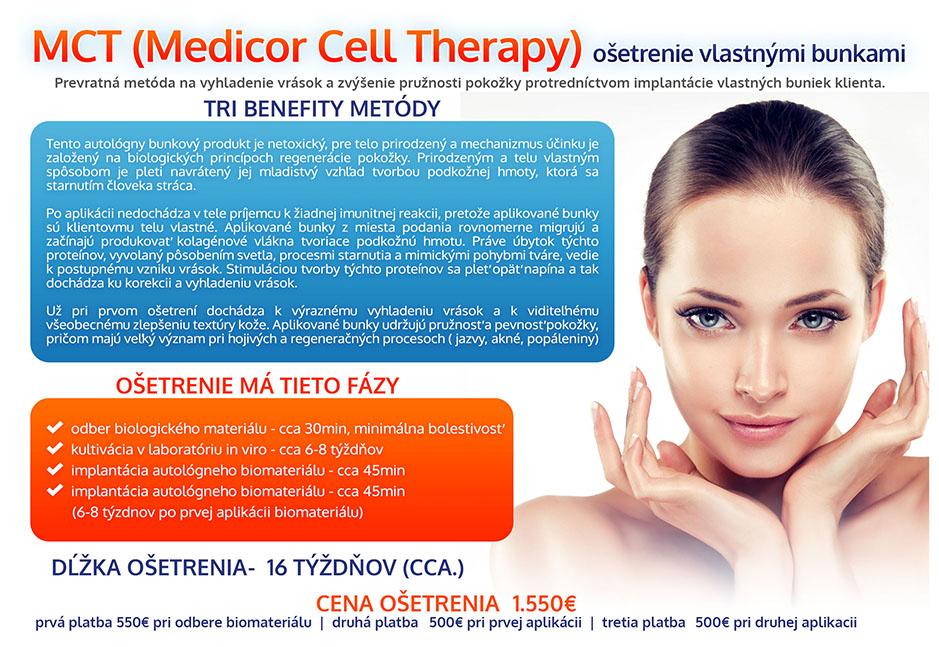 MCT (Medicor Cell Therapy) ošetrenie vlastnými bunkami